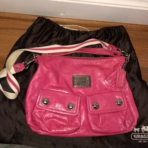 Coach Hot Pink Satchel with Crossbody Strap